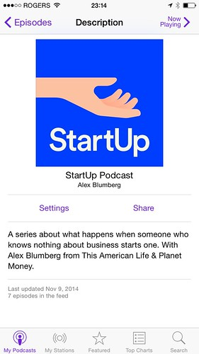 My favorite podcast: StartUp Podcast by Alex Blumberg
