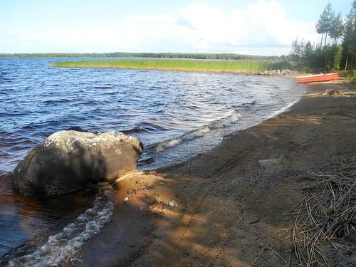 summer lake finland landscape geotagged july shore fin kn kajaani 2014 kainuu oulujärvi 201407 rauhanniemi 20140729 geo:lat=6420837527 geo:lon=2700310707