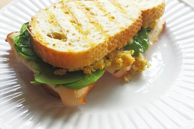 52 sandwiches no. 52 (!) turkey, stuffing, & cranberry panini