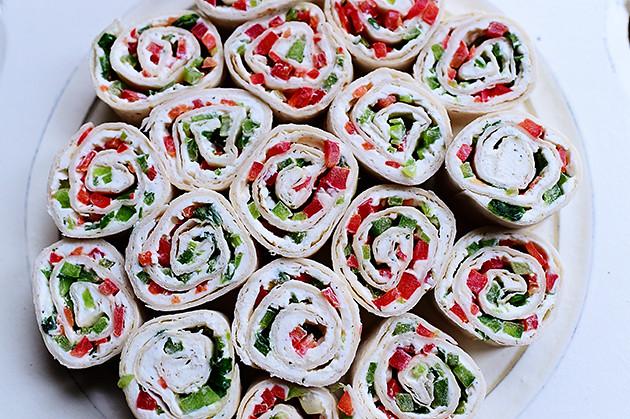 Christmas Tortilla Rollups