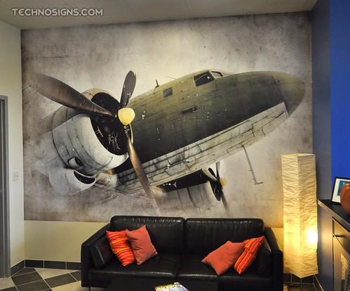 Custom vinyl wall wrap by TechnoSigns in Orlando