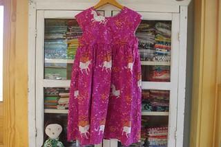 geranium dress::heather ross far far away fabric