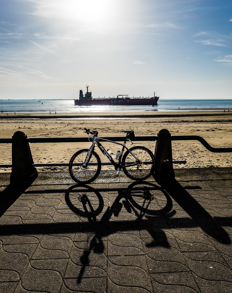 My bike and a boat