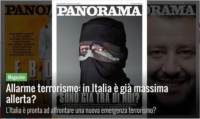 Copertina xenofoba di Panorama