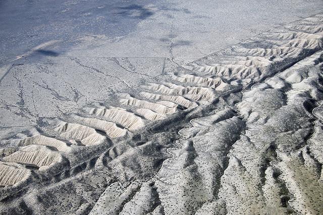 Above the San Andreas Fault and Dragon's Back Ridge, Carrizo Plain, San Luis Obispo County, California