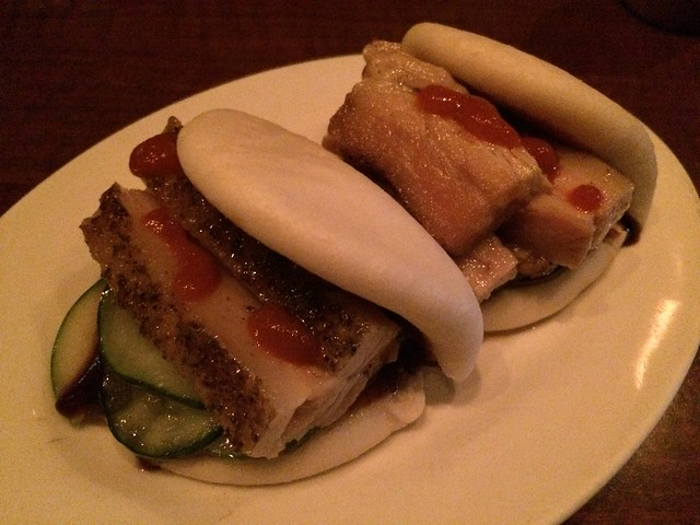 Pork belly steamed buns - Momofuku Ssam Bar