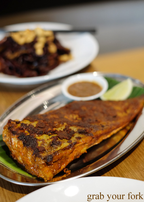 Ikan bakar grilled stringray at Hawker Malaysian, Sydney