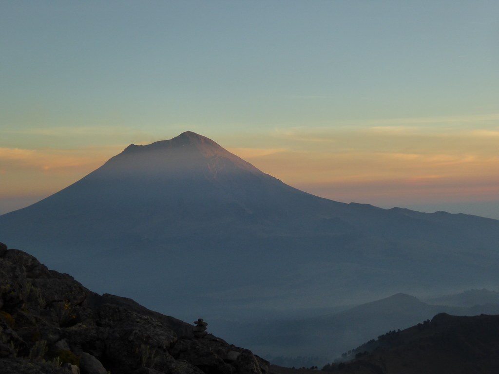 Popocatapetl at sunset