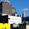 This book belongs to its owner. .. See http://electronicintifada.net/blogs/maureen-clare-murphy/theres-still-time-catch-emily-jacirs-intervals-new-york-city From the #highline #heyho2014 #NewYork Empire State Building in the background.
