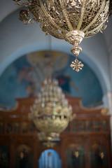 Lamps at  Greek Orthodox Basilica of Saint George // Trip to Jordan