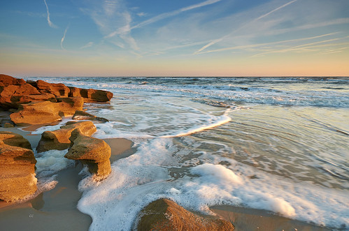 light sky seascape beach nature sunrise nikon rocks florida sigma atlantic bubble contrails marineland eastcoast coquina palmcoast captureone d7000