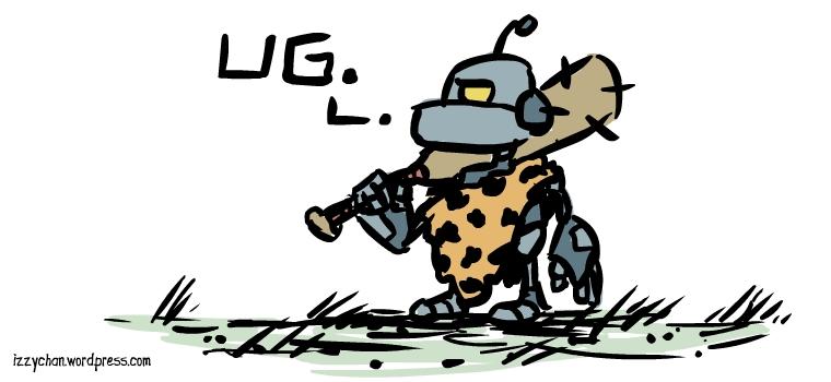 robot caveman ug smash