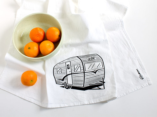 vintage trailer tea towel by vitamini | www.vitaminimodern.com