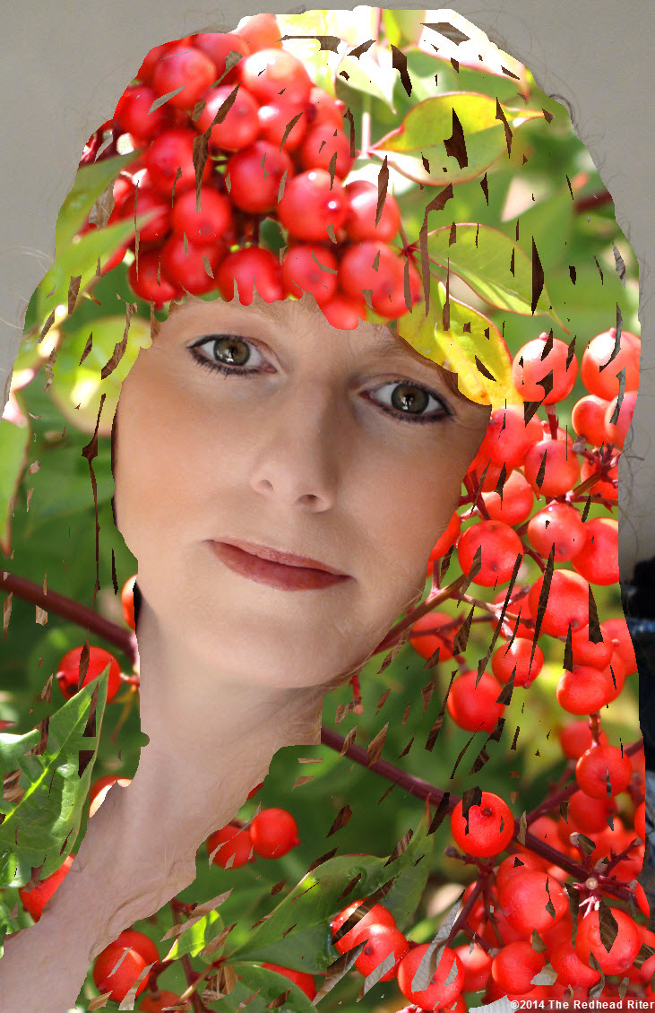 redhead hair red berries