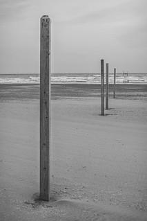 Image de Bluffer's Park Beach Plage d'une longueur de 834 mètres. blackandwhite bw toronto ontario canada beach sand scarborough poles bluffs