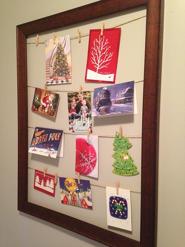Picture Frame Christmas Card Display