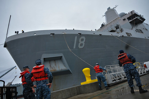 USS New Orleans Leaves BAE System Shipyards