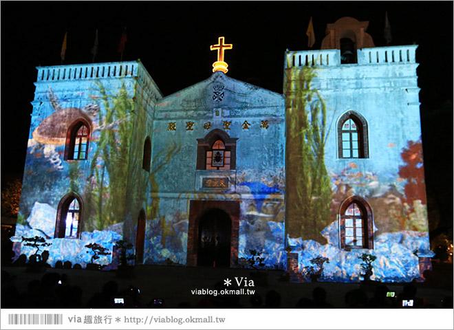 【萬金教堂】屏東萬金教堂聖誕季~3D光雕秀+耶誕地景藝術/全台最濃耶味小鎮!15