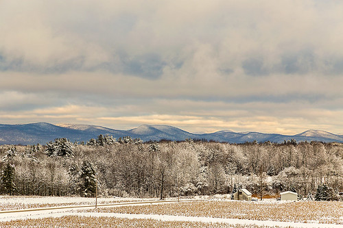 autumn trees sky usa house mountain snow ny newyork fall field clouds december farm upstate adirondacks upstateny explore adirondackmountains canon6d