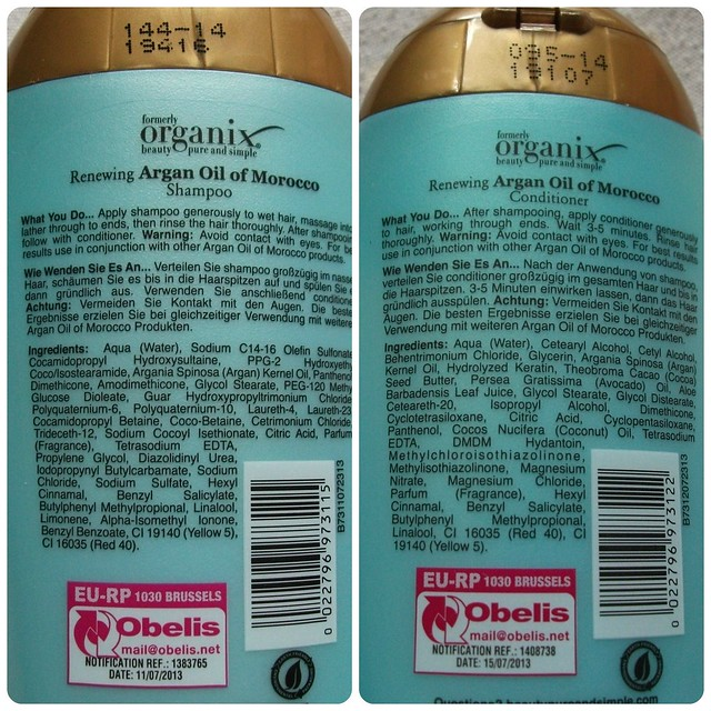 OGX Shampoo & Conditioner Argan Oil of Morocco