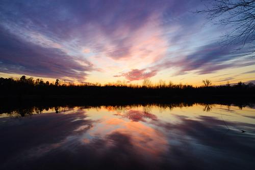 park sunset sky lake fall clouds evening nc nikon colorful northcarolina kinston neuseriver neuseway