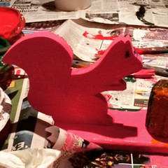 There's been a pink squirrel sighting in Kirtland!  #pink #squirrel #Kirtland #Santa #toy #workshop #lakemetroparks #farmpark #mywildohio