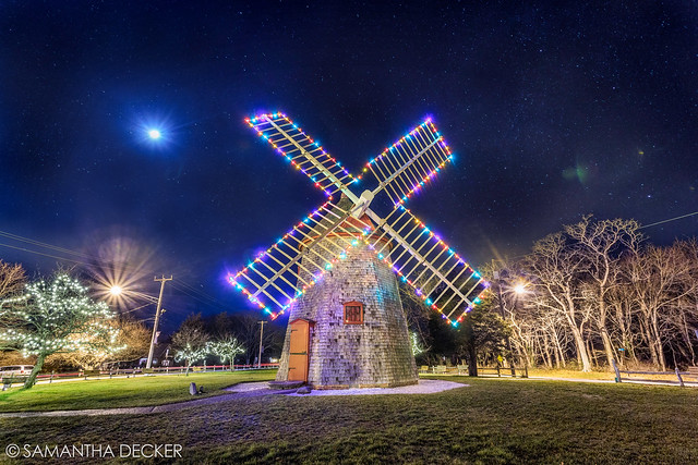 Eastham Windmill Decked Out in Holiday Lights