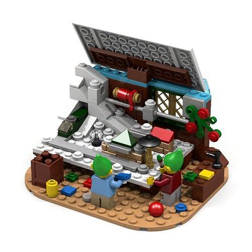 LEGO Winter Village Layout
