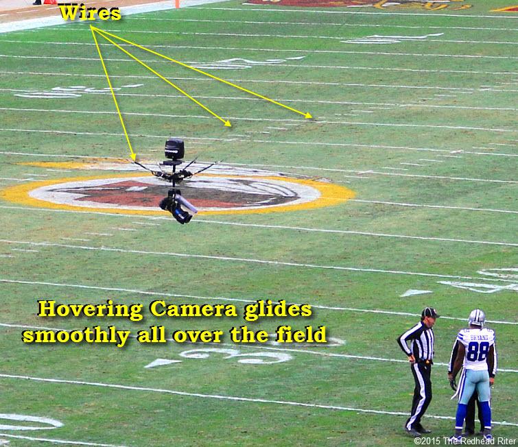 18 the hovering gliding camera dallas cowboys vs washington redskins game