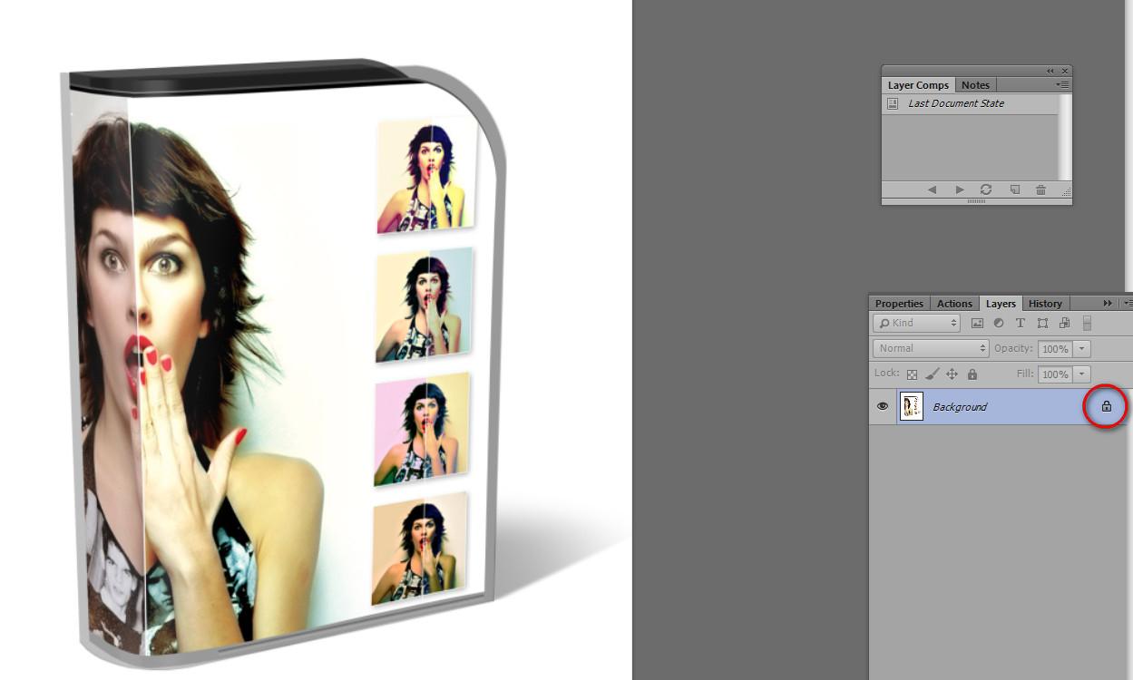 Как разблокировать слой в Photoshop