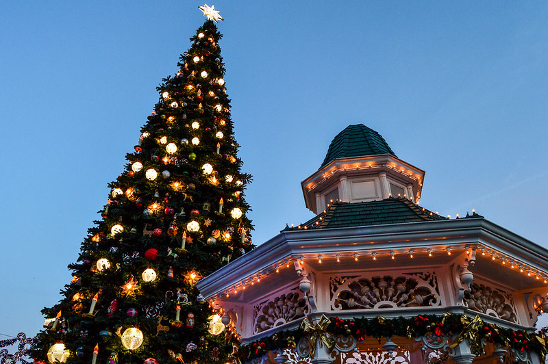 Disneyland Christmas Tree and Gazebo