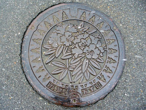 Keihoku Kyoto, manhole cover (京都府京北町のマンホール)