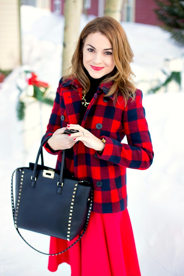 Buffalo plaid holiday outfit