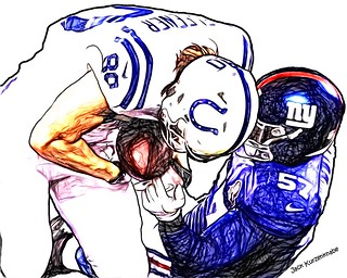 Indianapolis Colts Coby Fleener  - New York Giants Jacquian Williams