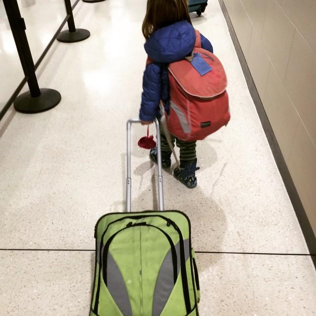 Little traveler. #winterbreak2014