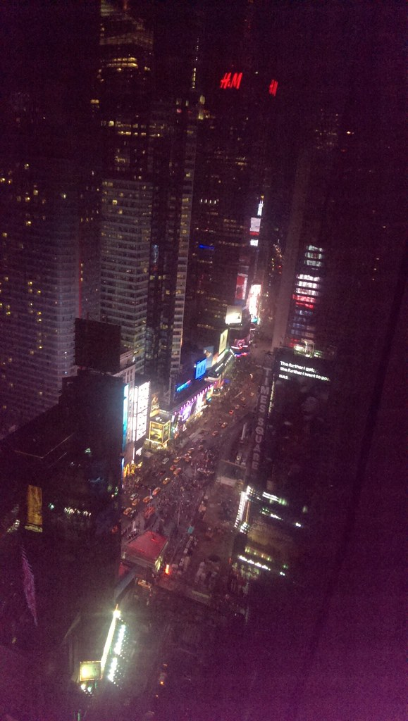 Times Square view from Crowne Plaza Hotel Room