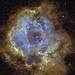 Rosette in nearly Hubble :) by BudgetAstro