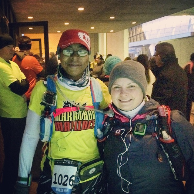 It's cold but not as cold as we thought it would be. Ready to race Mississippi Blues Marathon! #mymsblues #marathonmaniacs #50states #teamchocolatemilk #nuunlove