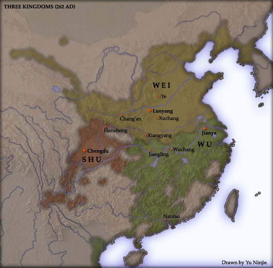 Three Kingdoms of China before its decline