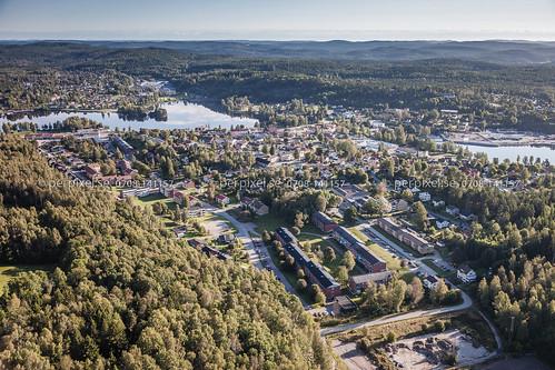 sverige swe västragötaland bengtsfors flygfoto huvudgingen
