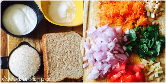 Bread Uttappam Recipe for Toddlers and Kids - step 1