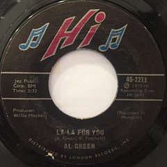 AL GREEN:LOOK WHAT YOU DONE FOR ME(LABEL SIDE-B)