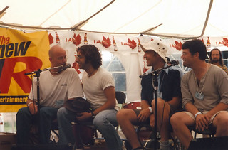 Dave, Jian, Murray and Mike in Orillia Ontario (July 2000)