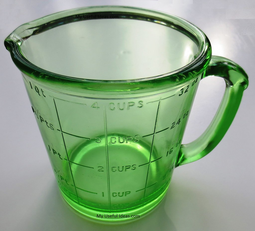 Green Depression Glass Measuring Cup   My Useful Ideas com My Useful Ideas com The