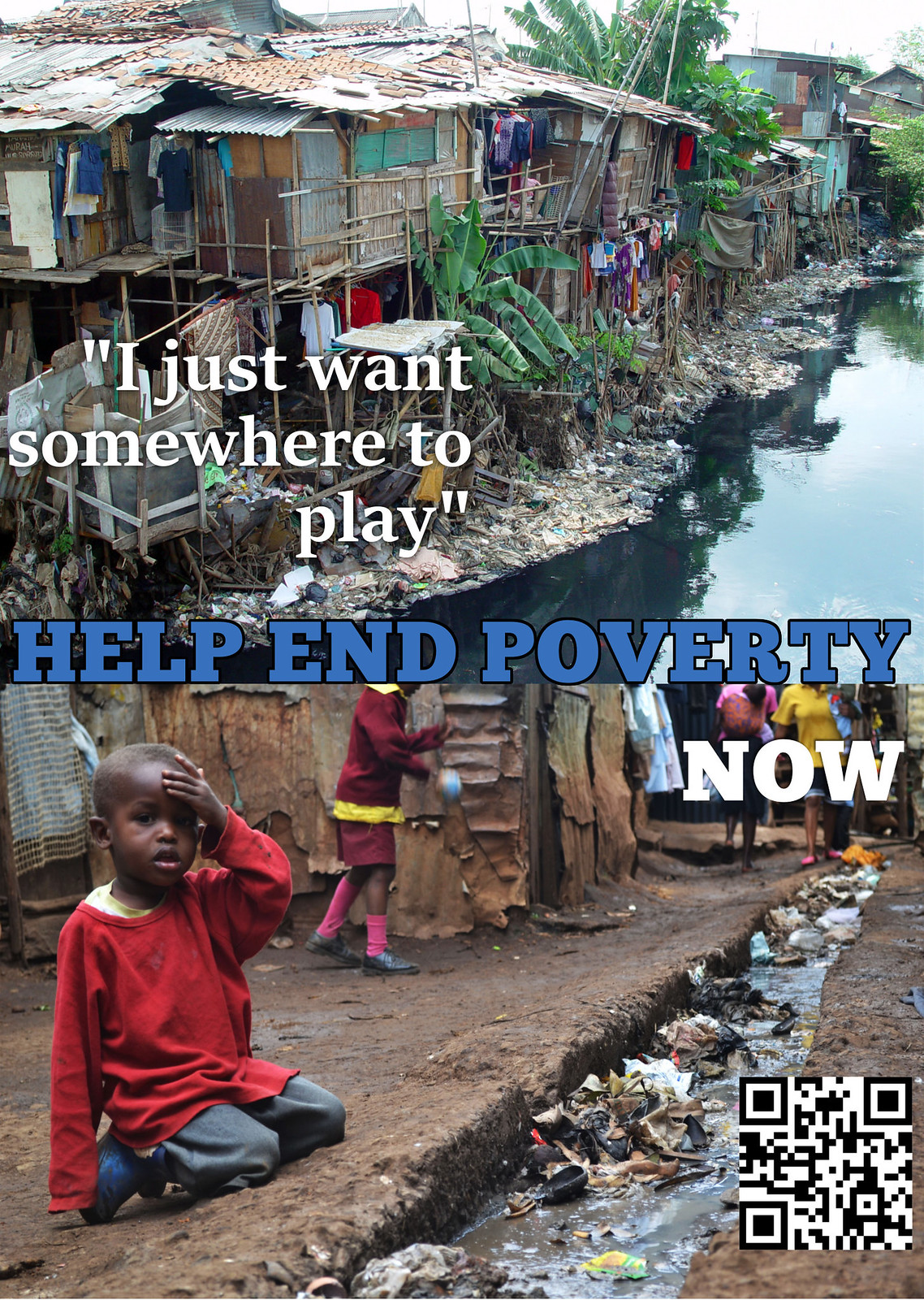 Create a rhetorical poster exercise: Help End Poverty. Now