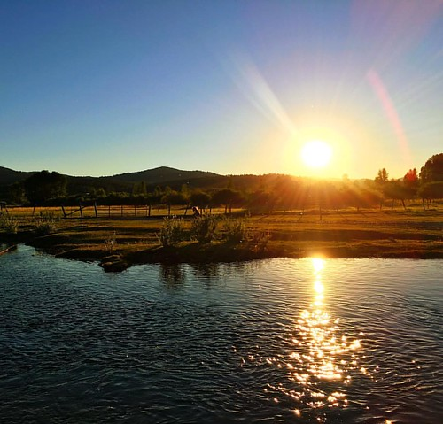 Sun setting over #flatcreek #Wyoming gorgeous and beautiful, feeling blessed at our #familyreunion