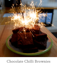 Chocolate Chilli Brownies
