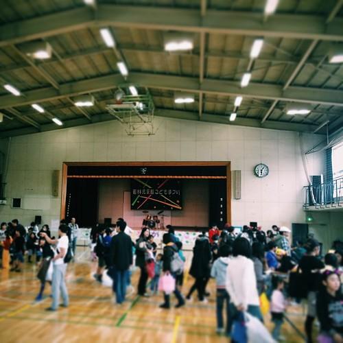 廃校で児童館イベント