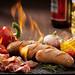 Sausage on fire - Vietnam Food Stylist by Egret Grass
