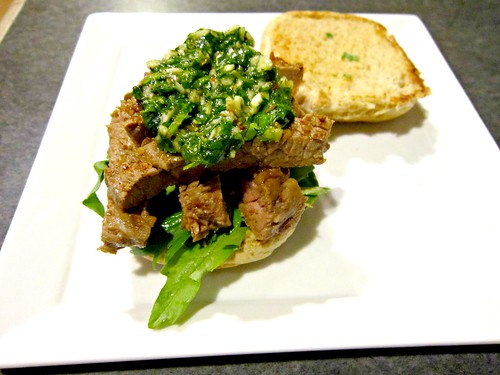 Steak Sammich with Chimichurri Sauce